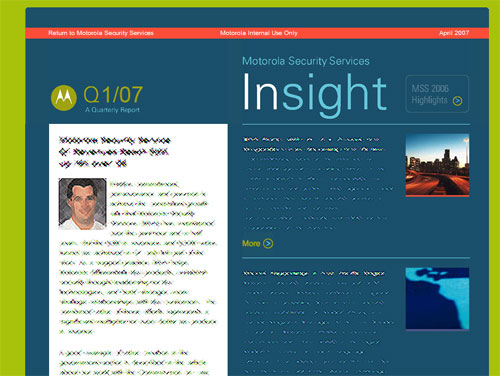 Motorola Insight (Intranet site)